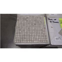 "12"" X 12"" WHITE WOODRIDGE MOSAIC POLISHED 5/8"" X 5/8"", 35 PCS"