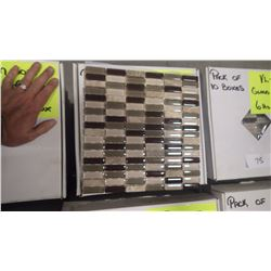 "12"" X 12"" GLASS MOSAIC VL-002/PM, 60 PCS"