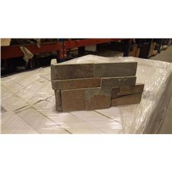 MULTICOLOR FLAT EDGE CORNERS UNITED STONE 80 LINEAL FT