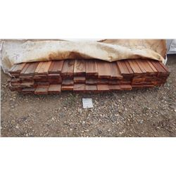 """TIGER WOOD SUBRAIL FOR RAILINGS AND BALISTERS 5/4 X 4"""" X 8' 73 PCS"""