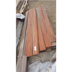 "TIGER WOOD TONGUE AND GROOVE 4/4 X 6"" X 8' 150 PCS, AND 11 PCS 10'"