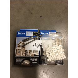 CORTEX RESTORATION MILLWORK SCREWS FOR P.V.C. TRIMS KIT 2 BOXES TEXTURED WOOD GRAIN