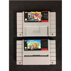 SUPER NINTENDO VIDEO GAME LOT (STUNT RACE & SUPER MARIO KART)
