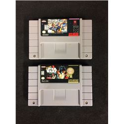 SUPER NINTENDO VIDEO GAME LOT (REALM, SUPER STAR WARS)