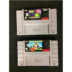 SUPER NINTENDO VIDEO GAME LOT (SPAWN, WARIO'S WOODS)
