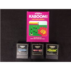 ACTIVISION KABOOM & COLECO VIDEO GAME LOT