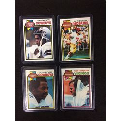 1979 TOPPS FOOTBALL TRADING CARDS LOT (DORSETT, JONES, THEISMAN, TARKENTON)