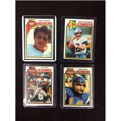 1979 TOPPS FOOTBALL TRADING CARDS LOT (RIGGINS, ZORN, STAUBACH, FOUTS)