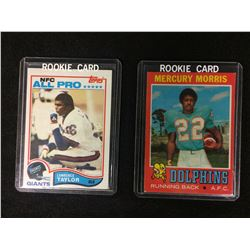 1971 NFL ROOKIE CARD LOT (MORRIS, TAYLOR)
