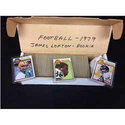 1979 TOPPS FOOTBALL CARDS (JAMES LOFTON ROOKIE)