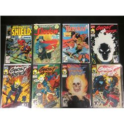 COMIC BOOK LOT  (SHIELD, GHOST RIDER, SHADOW, HAWKMAN)