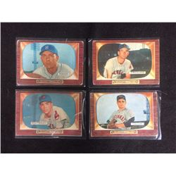 1955 BOWMAN BASEBALL TRADING CARDS LOT (HODGES, HOUTERMANN, STRICKLAND, COLLUM)