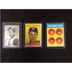 1963 ROOKIE STARS, THOMSON, CLEMENTE BASEBALL CARDS