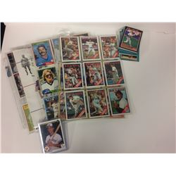BASEBALL TRADING CARDS (RED SOX, INDIANS & MORE...)