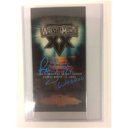 RIC FLAIR SIGNED WWE WRESTLEMANIA XX  AUTHENTIC PASS  (VERY RARE)