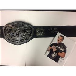 """WWE """"ECW"""" CHAMPION BELT SIGNED BY TOMMY DREAMER W/ AUTOGRAPHED PHOTO"""