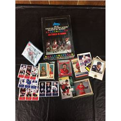 MIXED NHL HOCKEY TRADING CARD LOT (3 IN 1 CARDS, 1990-91 QUEBEC LEAGUE & MORE...)