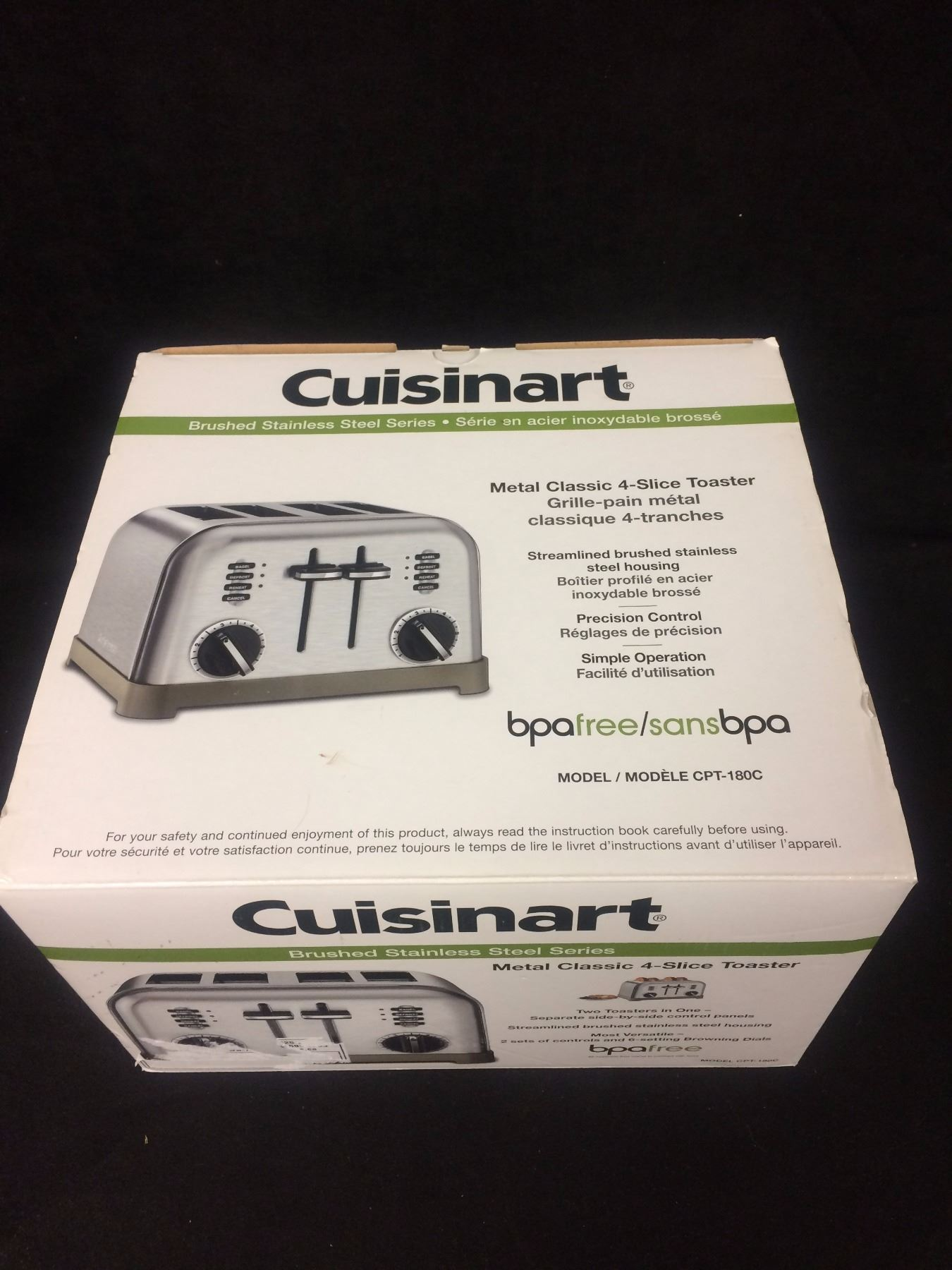 toaster cuisinart classic steel res metal slice itm ebay stainless
