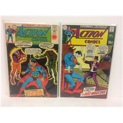 ACTION COMICS (#383, 382) DC