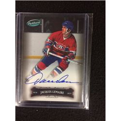 2006-07 Parkhurst Canadiens Hockey Card #136 Jacques Lemaire (AUTOGRAPHED)