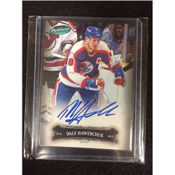 DALE HAWERCHUK 06/07 Parkhurst Auto Autograph #27 Winnipeg Jets COA on Back