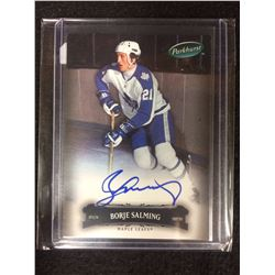 2006-07 Parkhurst Maple Leafs Hockey Card #109 Borje Salming (AUTO)