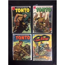 VINTAGE TONTO & LONE RANGER COMIC BOOK LOT