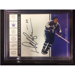 ORIGINAL 6 AUTOGRAPHS DARRYL SITTLER HOCKEY CARD