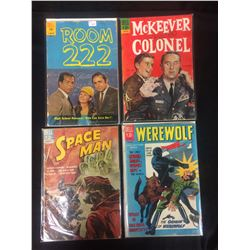 VINTAGE DELL COMIC BOOK LOT (ROOM 222, MCKEEVER COLONEL, SPACE MAN, WEREWOLF)