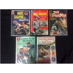 VINTAGE DELL COMIC BOOK LOT (MIKE SHAYNE PRIVATE EYE, LEAVE IT TO BEAVER, RAT PATROL & MORE...)
