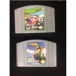 NINTENDO 64 VIDEO GAME LOT (SOUTH PARK RALLY, WAVE RACE)