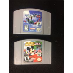 NINTENDO 64 VIDEO GAME LOT (PILOT WINGS, MICKEY'S SPEEDWAY USA)