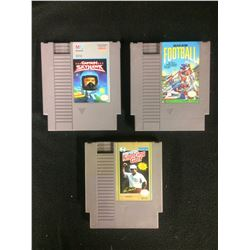 NINTENDO VIDEO GAME LOT (CAPTAIN SKYHAWK, FOOTBLL, FIGHTING GOLF)
