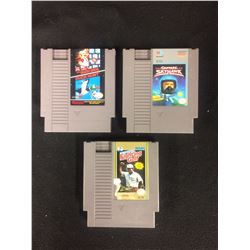 NINTENDO VIDEO GAME LOT (MARIO BROS/DUCK HUNT, CAPTAIN SKYHAWK, FIGHTING GOLF)