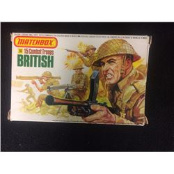VINTAGE 1/32 SCALE MATCHBOX 1983 BRITISH COMBAT TROOPS COMPLETE