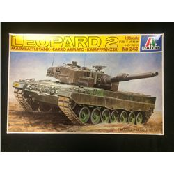 Leopard 2 German Main Battle Tank 1/35 Italeri 243 New Armor Plastic Model Kit
