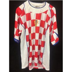 Team Croatia Federation Soccer Jersey SS Men Checkered Stadium Home