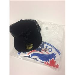 TORONTO BLUE JAYS LOT (BRAND NEW BASEBALL CAP (7 3/8 & T-SHIRT)