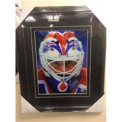 "GRANT FUHR SIGNED 14"" X 18"" FRAMED & MATTED PHOTO W/ COA"