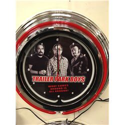TRAILER PARK BOYS NEON WALL CLOCK