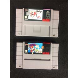 SUPER NINTENDO VIDEO GAME LOT (NHL 96 & MARIO PAINT)