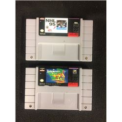 SUPER NINTENDO VIDEO GAME LOT (NHL 95 & THE PAGEMASTER)