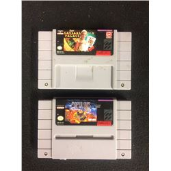 SUPER NINTENDO VIDEO GAME LOT (SUPER CAESARS PALCE & POPULOUS)