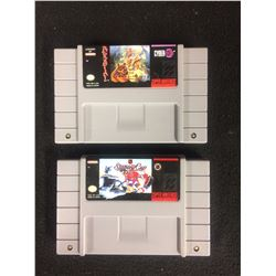 SUPER NINTENDO VIDEO GAME LOT (PAWS OF FURY & STANLEY CUP HOCKEY)