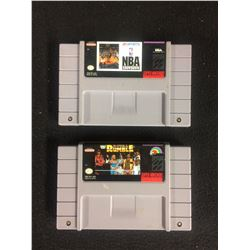 SUPER NINTENDO VIDEO GAME LOT (NBA SHOWDOWN & ROYAL RUMBLE)