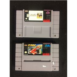 SUPER NINTENDO VIDEO GAME LOT (PGA TOUR 96 & F1 ROC)