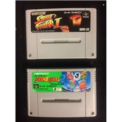 SUPER FAMICOM STREET FIGHTER II & PRIME GOAL II VIDEO GAME LOT (JAPAN)