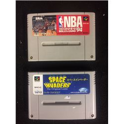 SUPER FAMICOM NBA 94 & SPACE INVADERS (JAPAN IMPORT)