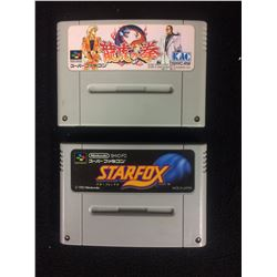 STAR FOX & ART OF FIGHTING RYUKO Nintendo Super Famicom GAMES Japan