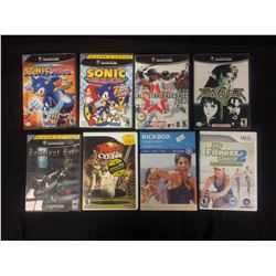 NINTENDO GAME CUBE VIDEO GAMES LOT (SONIC, KING OF CLUBS, SOUL CALIBER & MORE...)